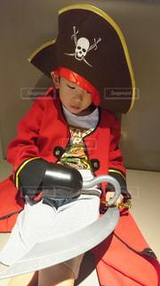 6歳の海賊船長の写真・画像素材[2170428]