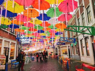 雨,傘,カラフル,ハウステンボス