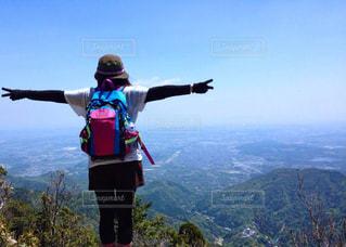 山頂からのピースの写真・画像素材[2173842]