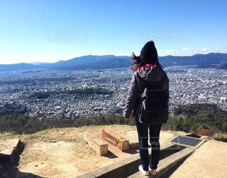 大文字山から京都の街を一望の写真・画像素材[2173890]