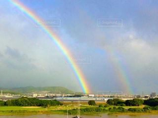 美しい虹の写真・画像素材[2597278]