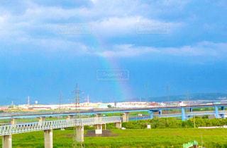 チラッと虹の写真・画像素材[2597291]