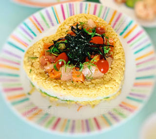 カラフル,ハート,卵,美味しい,刺身,女子会,海苔,ちらし寿司