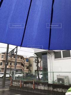 雨,傘,青,ブルー,梅雨,天気,雨の日,どんより