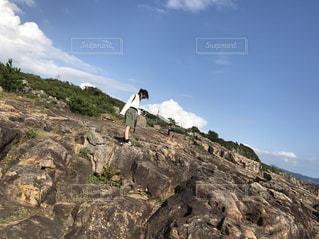 女性,自然,空,岩,人物