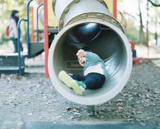 公園,屋外,Smile,子供,笑顔,すべり台,フィルム,男の子,2歳,フィルム写真,バケペン,PENTAX67,ブローニー,フィルムフォト,120film