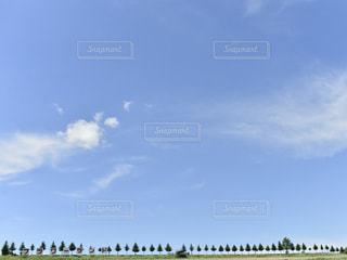 曇り青い空の写真・画像素材[2436666]