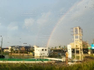 自然,空,雨,屋外,雲,虹,窓,ガラス,梅雨,雨粒,6月