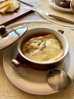 オニオングラタンスープの写真・画像素材[4192761]