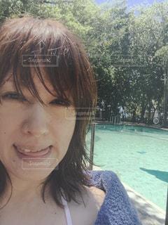 海,夏,自撮り,緑,プール,水着,光,セルフィー,眩しい,笑顔,オーストラリア