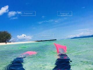 海,空,夏,自撮り,ビーチ,足,青,水面,光,人物,セルフィー,オーストラリア,シュノーケリング,マリンスポーツ