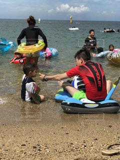 子ども,海,夏,海水浴,人物,人,キャンプ,パパ,BBQ,一緒