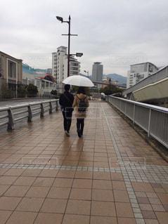 風景,橋,雨,水,道,雫,梅雨,デート,街中,天気,ビニール傘,雨の日,神戸市