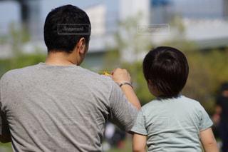 自然,屋外,父の日,父と子,父の背中
