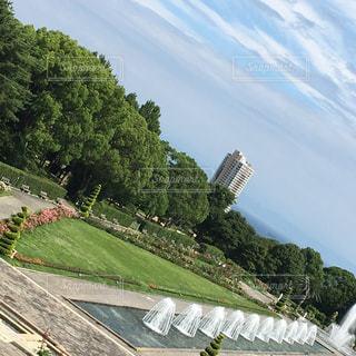 風景,空,緑,水面,草,樹木,新緑,旅行,草木,クラウド,ガーデン,山腹,フローラ