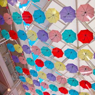 傘,カラフル,青空,パラソル