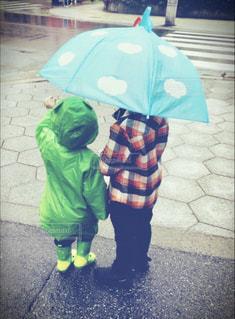 傘,水,仲良し,雫,少年,兄弟,雨の日