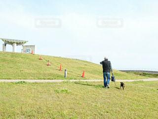 小高い丘での写真・画像素材[2211065]