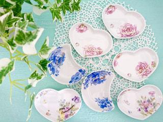 花,皿,ハート,小皿,食器,マーク,小物入れ