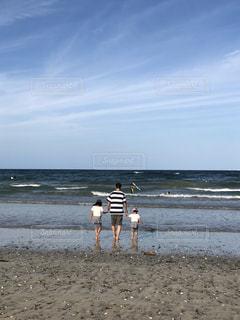 風景,ビーチ,海岸,子供,楽しい,パパ