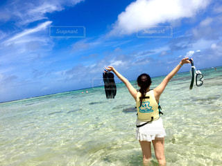 海と空と私の写真・画像素材[2328800]