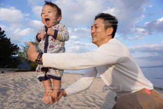 赤ちゃん,父,バランス,体幹トレーニング