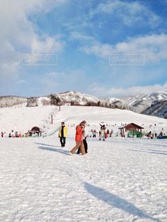 5人以上,自然,風景,アウトドア,空,スポーツ,雪,屋外,山,人物,人,スキー,ゲレンデ,レジャー,スノーボード,斜面