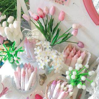 きゅんとするほど可愛いお花のボールペンの写真・画像素材[2259306]