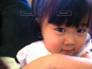 赤ん坊のクローズアップの写真・画像素材[2211117]
