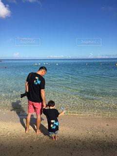 自然,風景,海,屋外,ビーチ,水面,海岸,人物,人,幼児