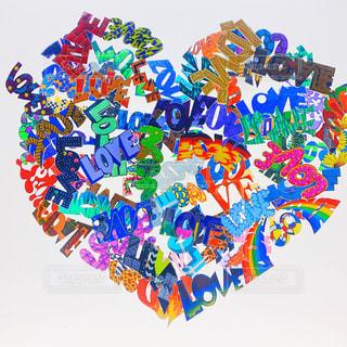 LOVE,カラフル,アート,ハート,デザイン,マーク,ポップ,おしゃれ