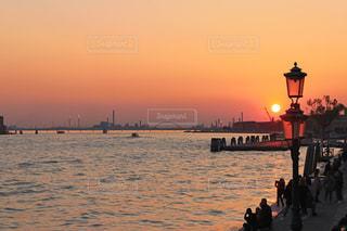 風景,海,空,橋,屋外,太陽,ボート,夕暮れ,船,水面,光,旅行,水上バイク