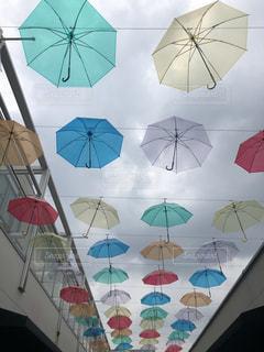 風景,傘,カラフル,街中,カラフル傘