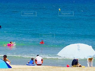 自然,海,太陽,ビーチ,親子,パパ,お父さん