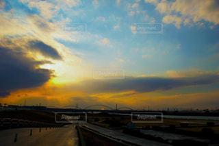 風景,空,雨,太陽,雲,夕暮れ,河川敷,雨上がり,雨の日
