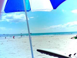 自然,海,空,傘,サーフボード,ビーチ