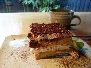 お気に入りカフェのティラミスの写真・画像素材[2254655]