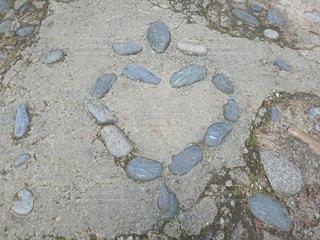ハート,石畳,地面,石,マーク