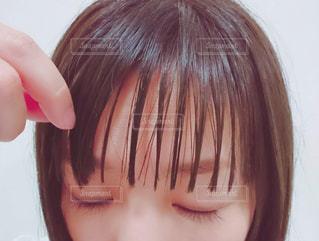 シースルーバング、前髪フォトの写真・画像素材[2471765]