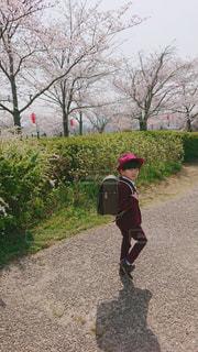 入学式の前撮り写真の写真・画像素材[3061521]