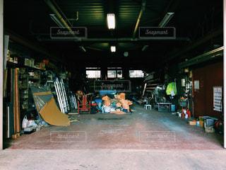 ガレージ,工場,街,町工場