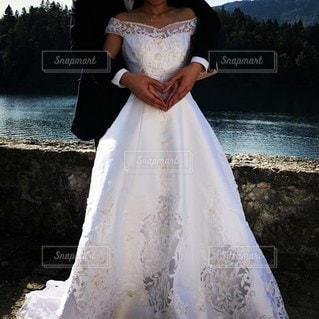 結婚式,ドレス,ハート,マーク