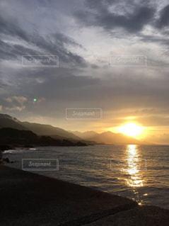 海,空,朝日,旅行,屋久島