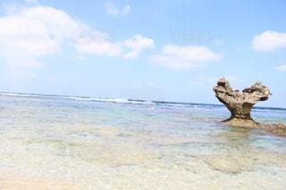風景,海,夏,晴れ,沖縄,ハート,古宇利島,ハートロック