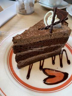 カフェ,屋内,おやつ,ハート,デコレーション,チョコケーキ,マーク