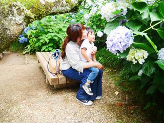 家族,自然,花,子供,紫陽花,6月,男の子,息子,ママ,JUNE,お母さん,お出かけ,紫陽花畑