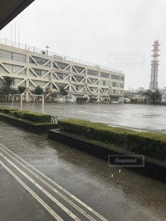 雨,屋外,学校,梅雨,天気,雨の日