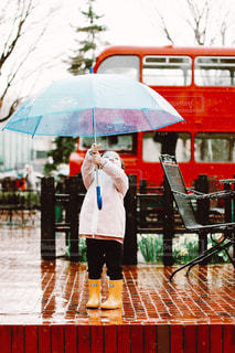 風景,雨,傘,子供,人,長靴,レインコート,雨の日