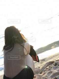 女性,風景,海,空,夏,カメラ,自撮り,屋外,太陽,ビーチ,砂浜,海岸,セルフィー,グアム,セルフ,セルフショット