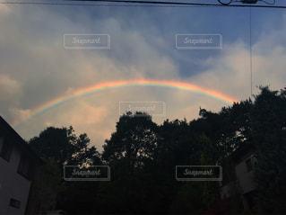 風景,空,雨,雲,青空,青,虹,田舎,雨上がり,梅雨,天気